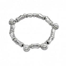 Silver Pendientes Gancho Circonitas 5mm