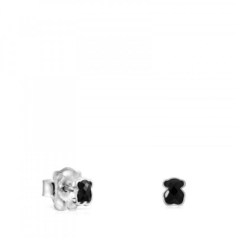 7ba19a1b Mini Onix Ag Pendientes Presion Oso Plata/Gema - 918453600