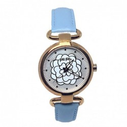 Santorini Flower Reloj Cuero