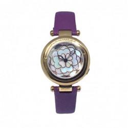 Santorini Flower Reloj Piel