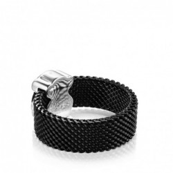 Mesh Color Anillo Plata/Onix